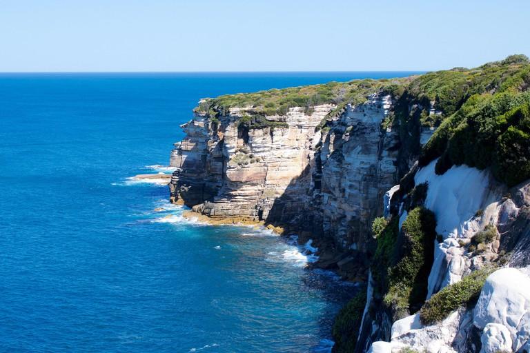 cliff coastline, royal national park, nsw, australia