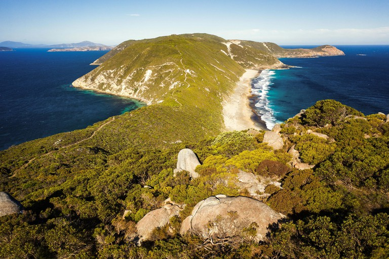 Bald Head track on Flinders Peninsula. Torndirrup National Park, Western Australia.