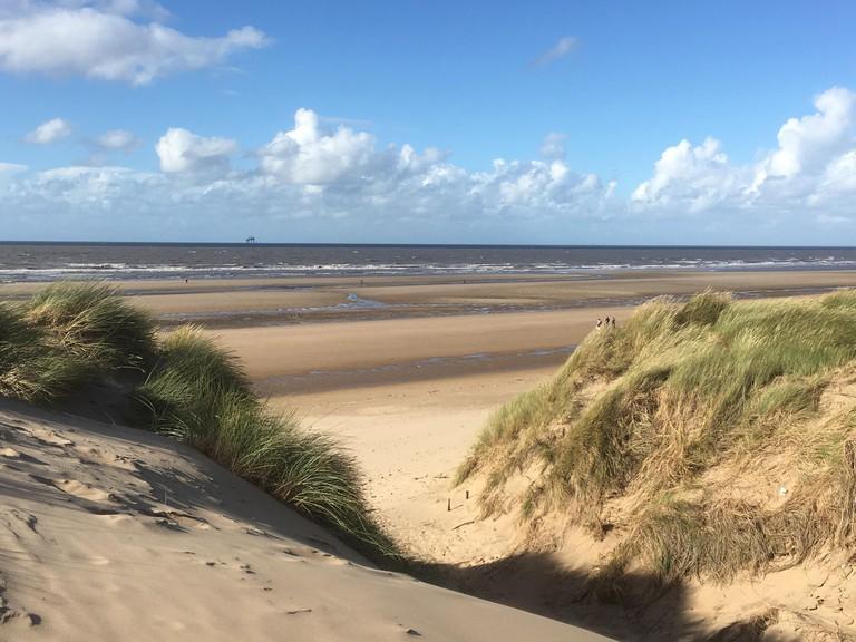 View of Irish Sea from Formby Beach
