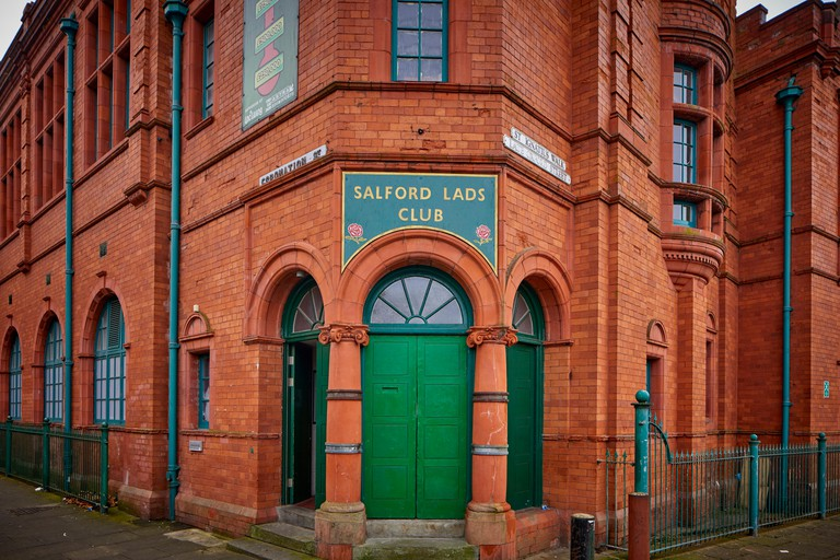Brick built listed Salford lads Club recreational club in the Ordsall, Gtr Manchester