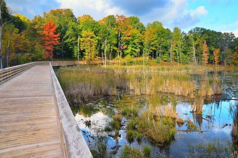 Narada Lake, Sleeping Bear Heritage Trail, Sleeping Bear Dunes National Lakeshore, Empire, Michigan, USA
