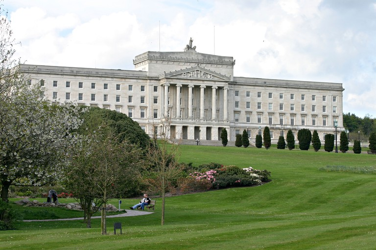 Stormont Castle: the sometimes seat of Northern Ireland s parliament surrounded by its well kept green grounds
