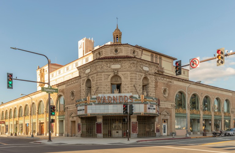 Warnors Theatre (formerly Pantages Theater), historic theatre and lankmark in Downtown Fresno, California.