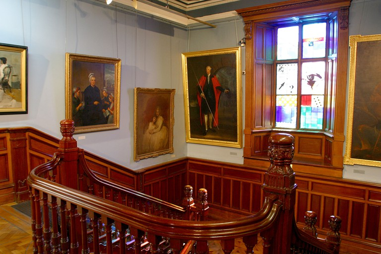 Ireland, Cork, Crawford Art Gallery, staircase