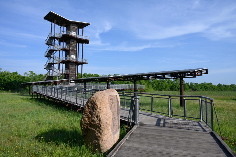 The John Jacob Observation Tower at the Sheldon Lake State Park. Houston, Texas, USA.
