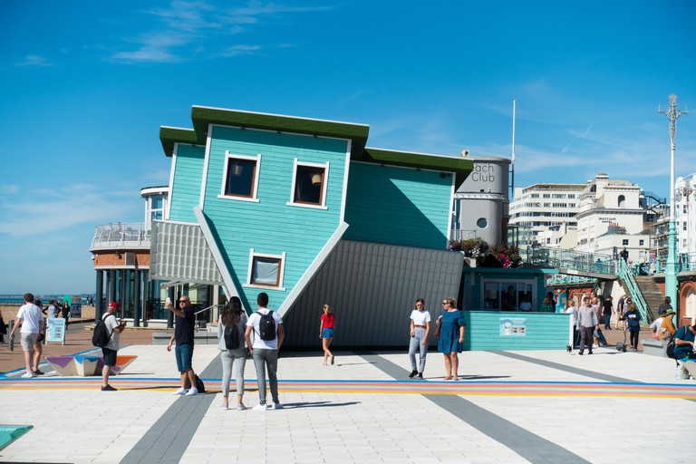 Upside Down House on Brighton seafront. Brighton, East Sussex, England, UK