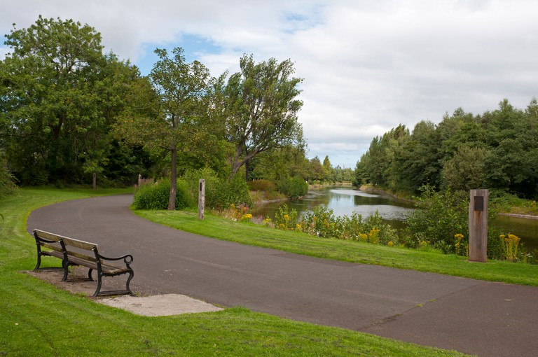 Scene from Victoria Park in East Belfast, An ASSI (Area of Special Scientific Interest).. Image shot 2010. Exact date unknown.