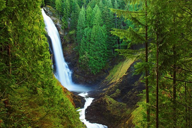 Wallace Falls, Wallace Falls State Park, Washington.
