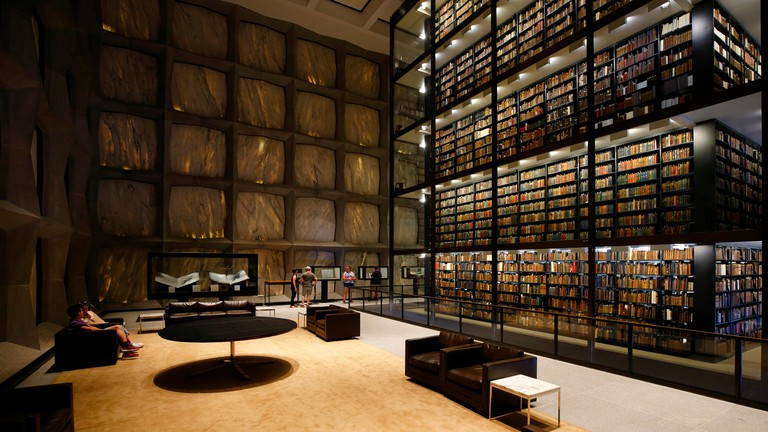 Beinecke Rare Book & Manuscript Library, 121 Wall Street, New Haven, CT. Image shot 08/2019. Exact date unknown.