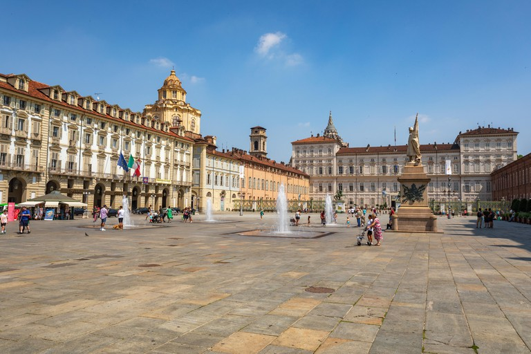 Royal Palace of Turin in piazza Castello, Turin, Italy