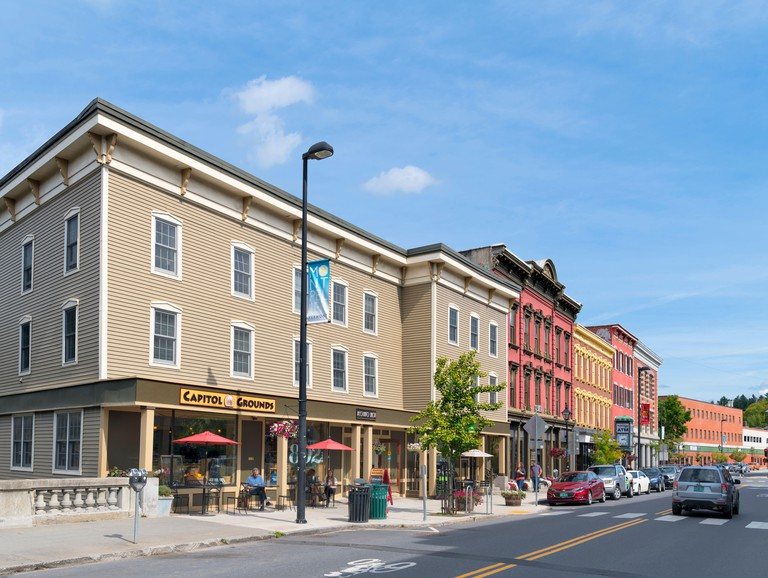 State Street in downtown, Montpelier, Vermont, USA