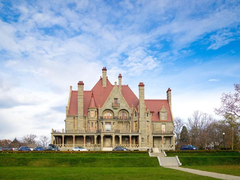 Craigdarroch Castle, a historic, Victorian-era Scottish Baronial mansion in Victoria, British Columbia, Canada,