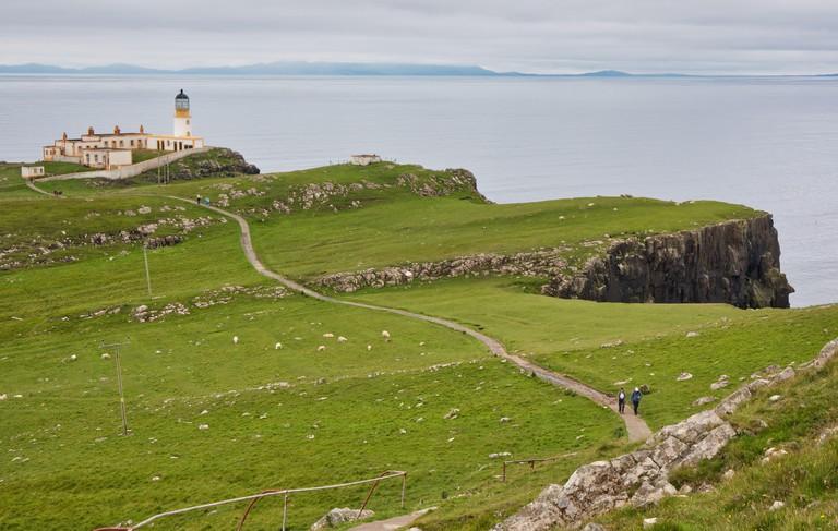Footpath leading to Neist Point Lighthouse, Neist Point, Isle of Skye, Inner Hebrides, Scotland