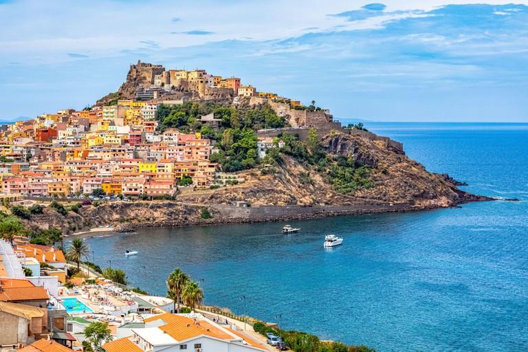 Italy Sardinia View of  Castelsardo
