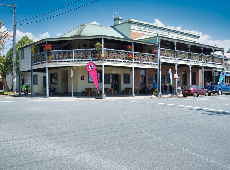 MORPETH, AUSTRALIA - Oct 23, 2019: Commercial Hotel, Morpeth , NSW Australia . The Commercial Hotel took over from the Farmers United Home Hotel which