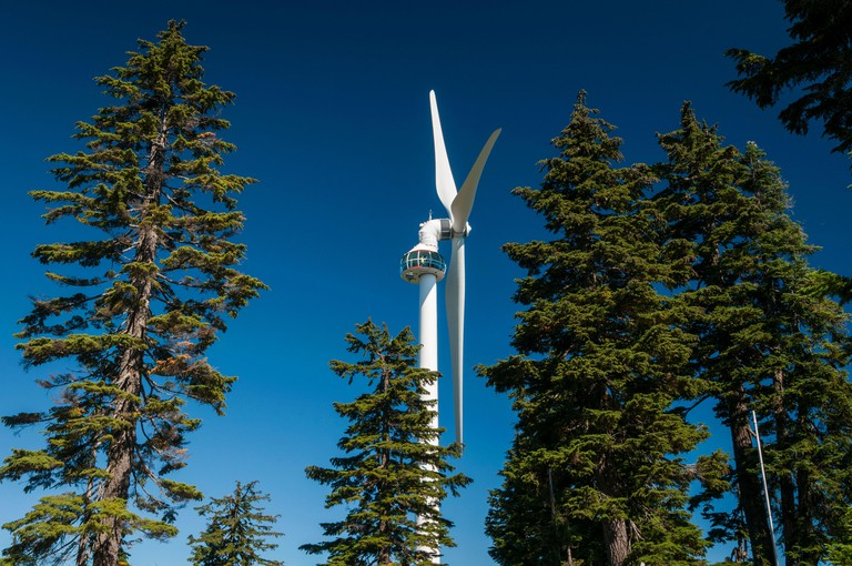 Eye of the Wind, Grouse Mountain, Vancouver, British Columbia, Canada.