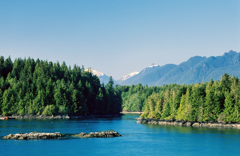 Mountains and Clayoquot Sound Tofino Vancouver Island British Columbia Canada