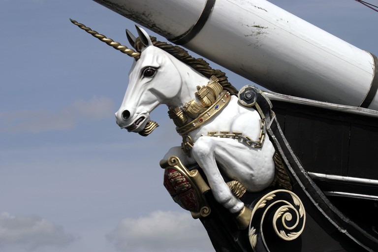 Figurehead from HMS Unicorn