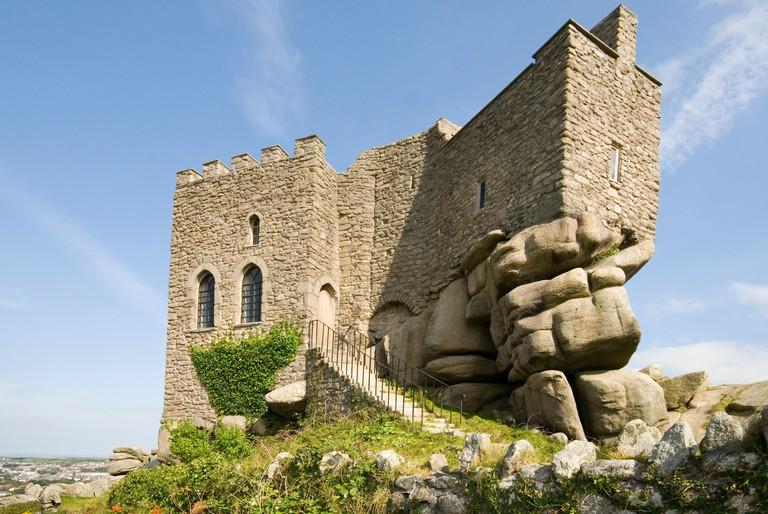 Carn Brae Castle, Redruth, Cornwall, UK.