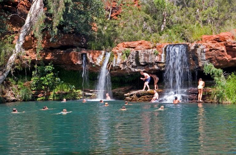 Fern Pool in Karijini National Park, Western Australia. Image shot 2007. Exact date unknown.