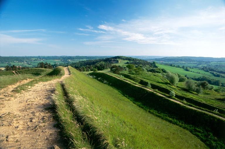 The Cotswold Way path Painswick Beacon