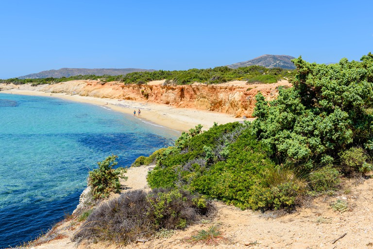 Aliko beach, one of the best beaches on the south western side of Naxos island. Aliko is lovely place to relax away from the crowded resorts. Cyclades