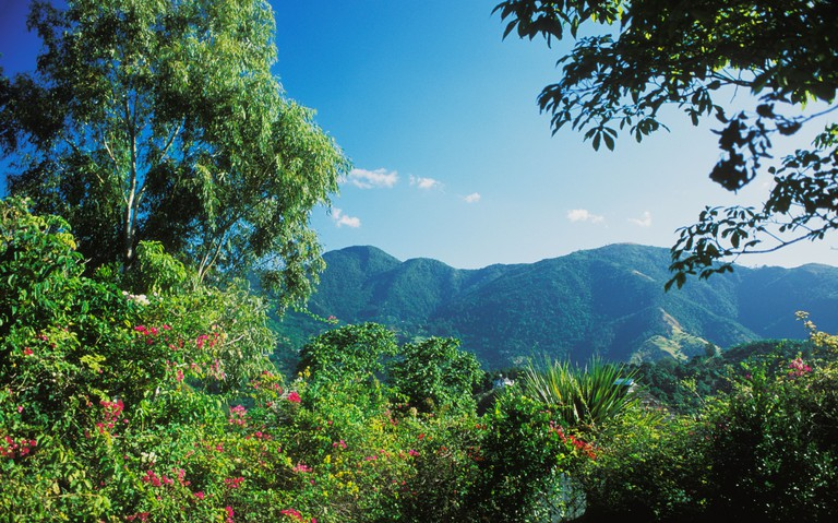 View of  Blue Mountains Jamaica