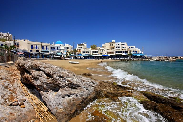 Apollonas village on the north coast of Naxos island, Cyclades, Greece