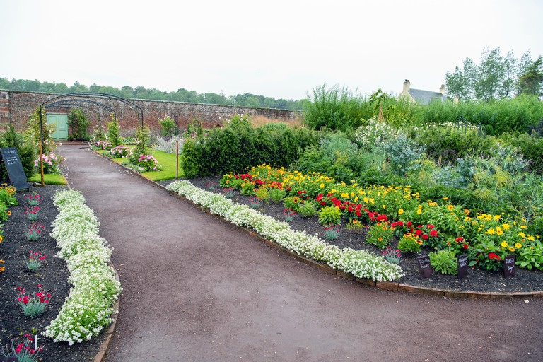 Cala Homes East Brochure shoot GullaneArcherfield walled garden