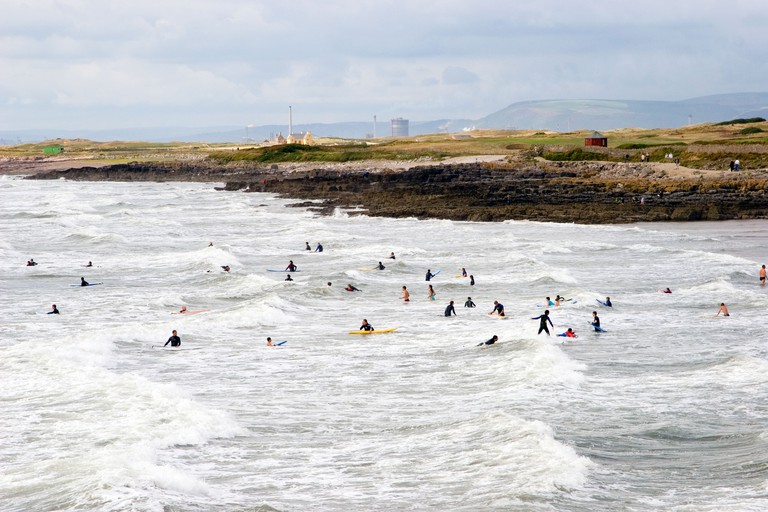 Surfers Rest Bay Sker House Port Talbot Steelworks Porthcawl South Wales