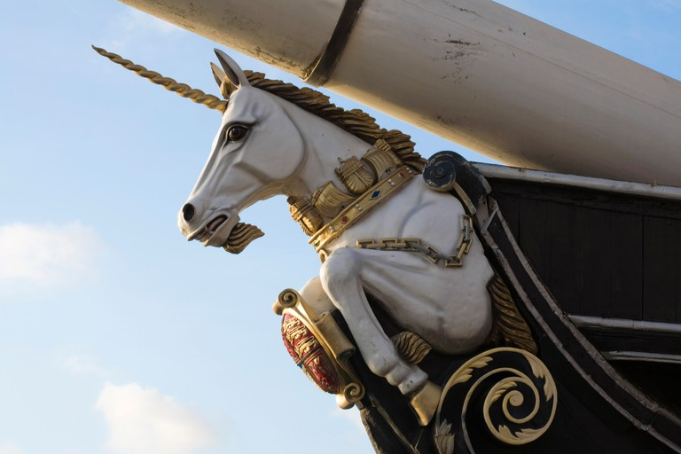 Figurehead of H M Frigate Unicorn