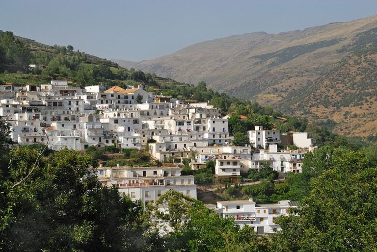 Highest mountain village in Spain Trevelez. Image shot 2007. Exact date unknown.