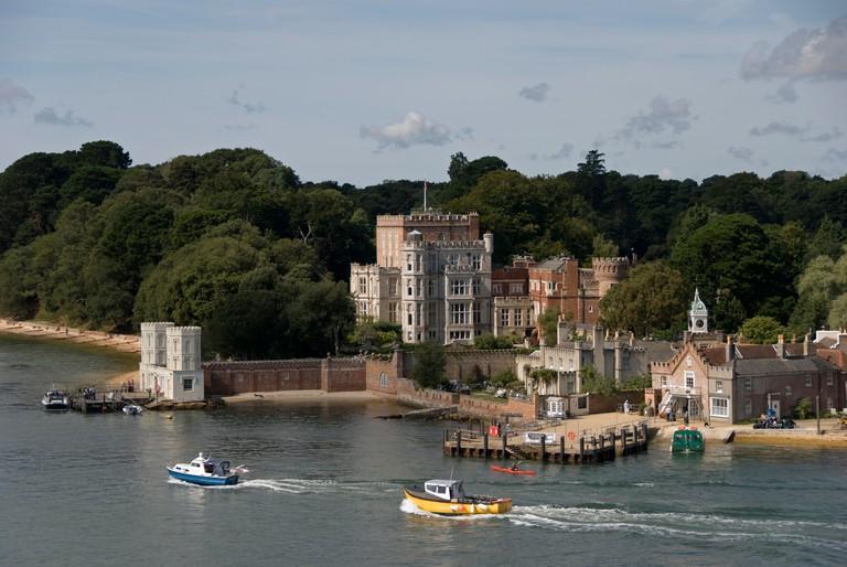 Brownsea Island, Poole, Dorset, UK . Brownsea Castle, also known as Branksea Castle.