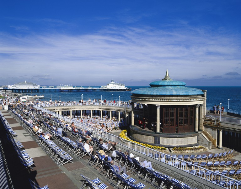 Eastbourne bandstand and pier East Sussex England GB