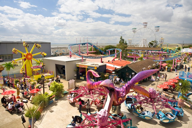 ADVENTURE ISLAND THEME PARK ON THE SEA FRONT AT SOUTHEND ON SEA.