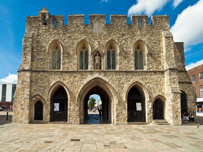 Bargate medieval gatehouse, Southampton.