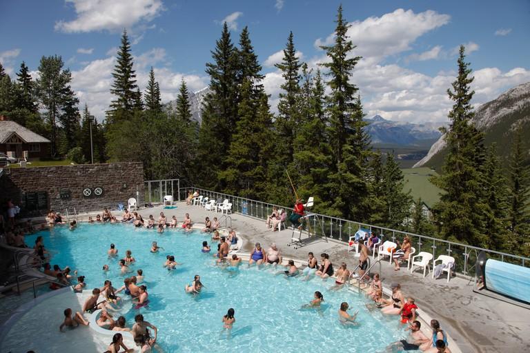 Canada Alberta Banff National Park Upper Hot Springs Pool