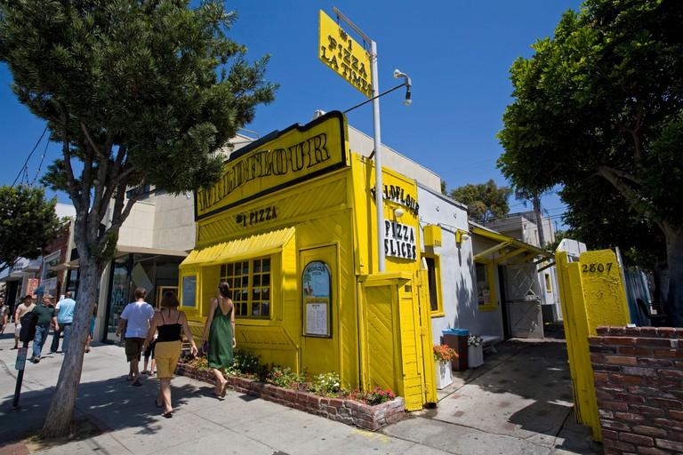 Wildflour Pizza, Main Street, Santa Monica, Los Angeles, California, USA