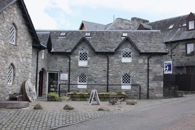 exterior of Old Watermill gallery bookshop Aberfeldy Perthshire Scotland  July 2009