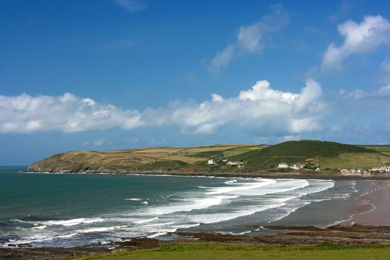 View of Croyde bay and beach, North Devon. Image shot 07/2009. Exact date unknown.