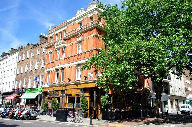 The Fitzroy Tavern, Charlotte Street, Fitzrovia, City of Westminster, Greater London, England, United Kingdom. Image shot 2010. Exact date unknown.
