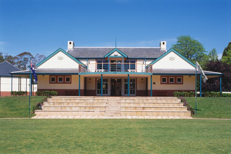 Australia, Southern Highlands, Bradman Museum, facade of a cricket museum in Bowral.