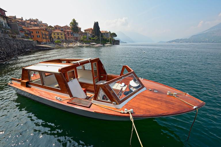 Water taxi, Varenna, Lake Como, Lombardy, Italy, Europe