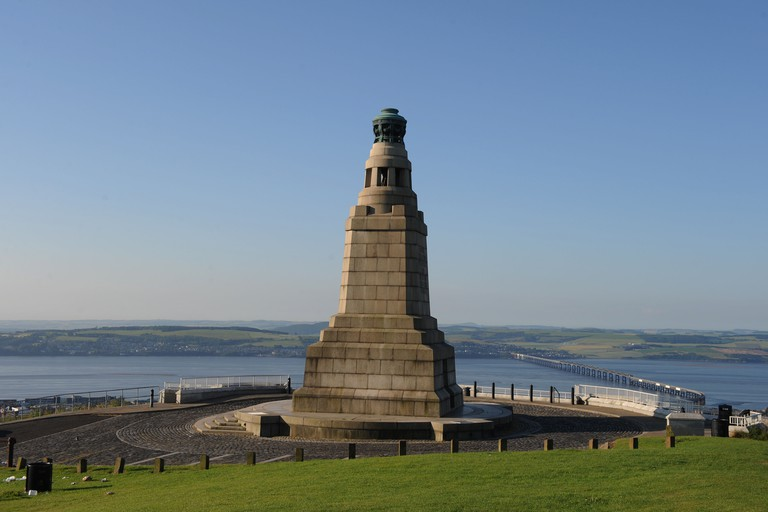 Dundee War Memorial on Law Hill, Dundee.Memory of the Dundee men who lost their lives in the great war 19-14-1918. Image shot 2011. Exact date unknown.