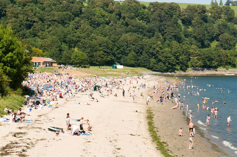 Silver Sands Beach at Aberdour, Fife, Scotland.