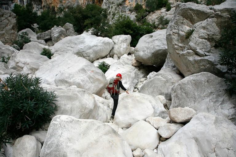 Gola Su Gorruppu canyon, Sardinia, Italy.