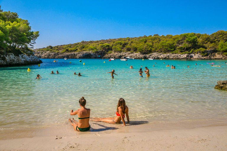 Cala Turqueta Beach. Ciutadella de Menorca Municipality. Minorca Island. Balearic Islands. Spain