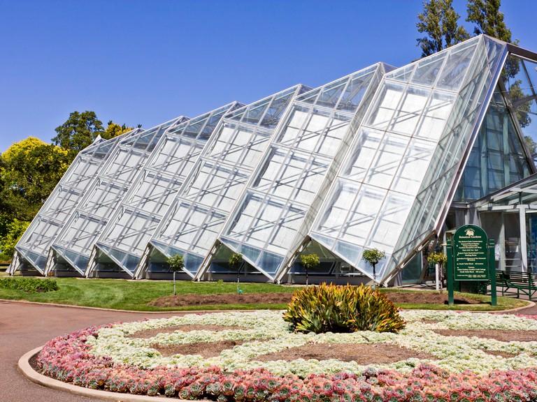 Glasshouse in the Ballarat Botanical Gardens.