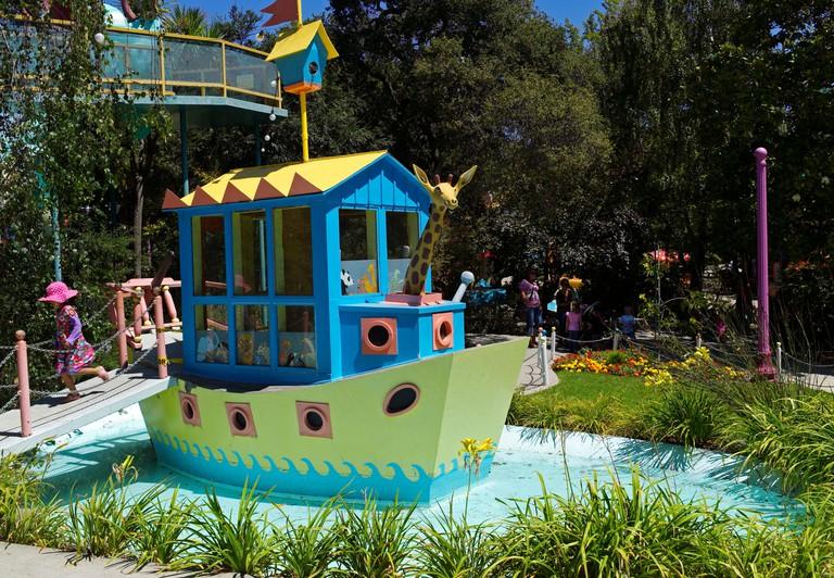 Clildren play near Noah's Ark in Fairyland