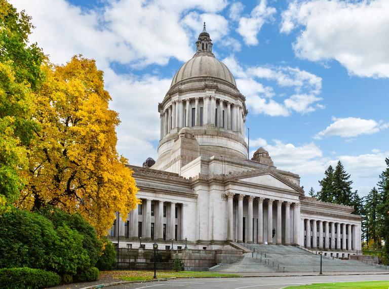 The Washington State Capitol, Olympia, Washington, USA